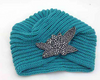 Floral Turban Soft Knit Crochet Headwrap - fashioniworld