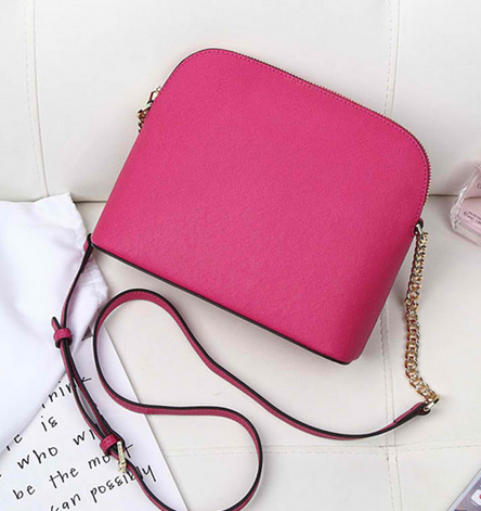 High Quality Leather Zipper Shell Shoulder Bag and Handbag