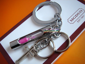 Cross Hourglass Keychain Key Finder Christmas Gift - fashioniworld