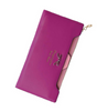 Lady Long Wallets Purse Female Candy Color Bow Knot PU Leather