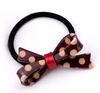 Woman Leopard Bow Tie Elastic Black Hair Rope