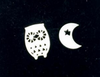 Simple Cute Crescent Moon and Owl Earring - fashioniworld