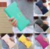 Lady Long Wallets Purse Female Candy Color Bow Knot PU Leather - fashioniworld