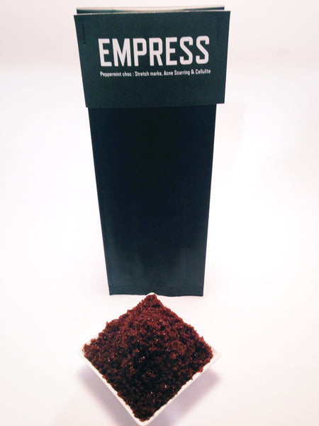 The EMPRESS (peppermint chocolate) 170g (cellulite, stretch marks, dry skin, exfoliation)