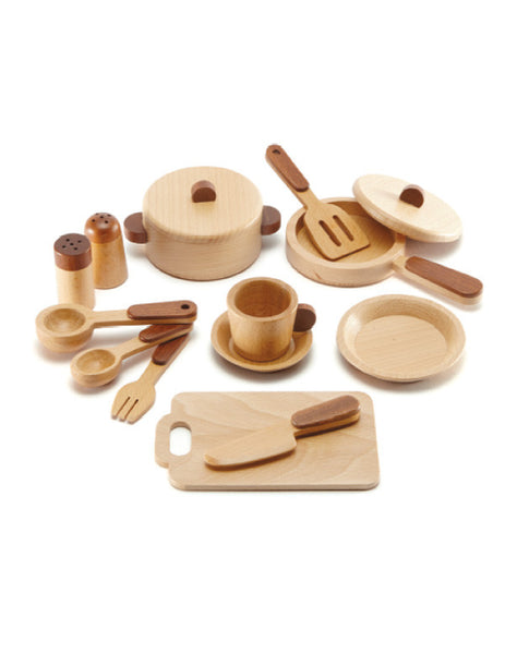 TC9002 | Kitchen Set 15 pcs (Red Wood)