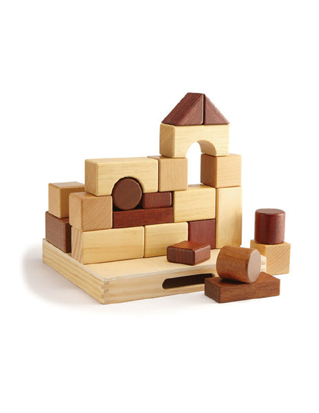 TC9004 | Blocks Set 23 pcs (Red Wood)