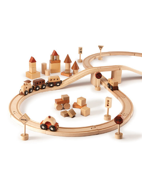 TC9005 | Train Set 57 pcs (Red Wood)