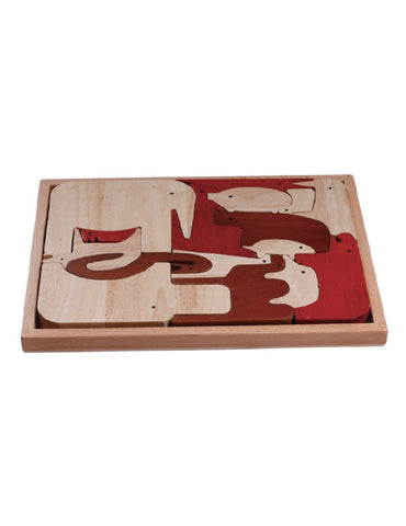 TC5002 | Cute Animal Puzzle (Red Wood Puzzle Series)