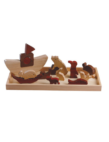 TC5004 | Noah's Ark Puzzle (Red Wood Puzzle Series)