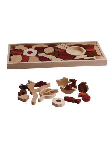 TC5005 | Fruit Set Puzzle (Red Wood Puzzle Series)