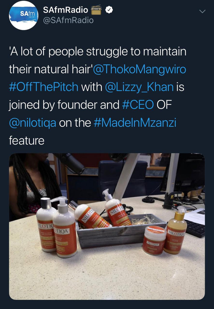 Off The Pitch 16 November 2018 Topic: Made in Mzansi : Nilotiqa products