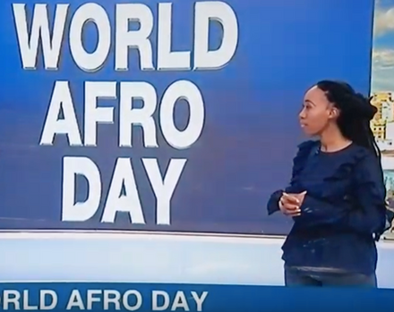 Nilotiqa CEO Thokozile Mangwiro celebrates World Afro Day on eNCA