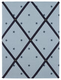 Blue stars fabric notice board from handcrafted by harriet
