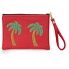 Tulum Red Palmera Clutch