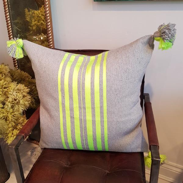 Grey & Neon Cushion