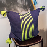 Denim & Neon Small Cushion