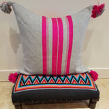 Grey & Bold Pink Cushion