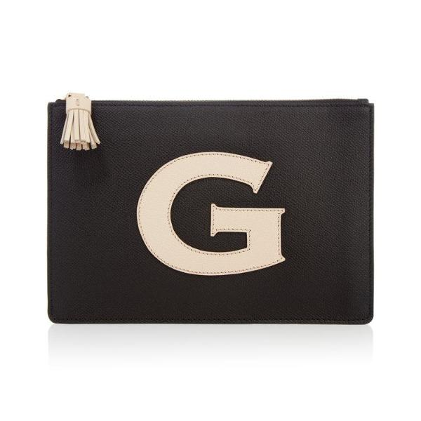 Goldhawk Stitched Clutch Bag - Black