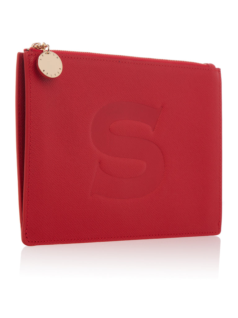 Goldhawk Stamped Clutch Bag - Lady Danger Red