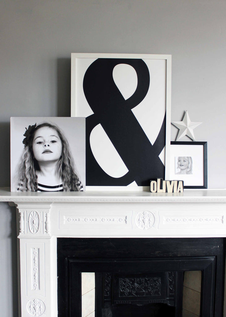 Ampersand Typographic Wall Art Print from We Are Amused