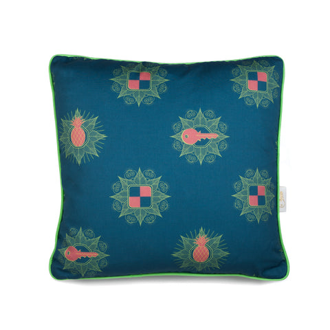 Kattenapple Print Cushion in Pink