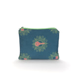 Kattenapple Print Make Up Bag in Blue