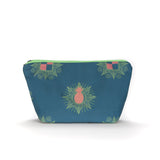 Kattenapple Print Washbag in Blue