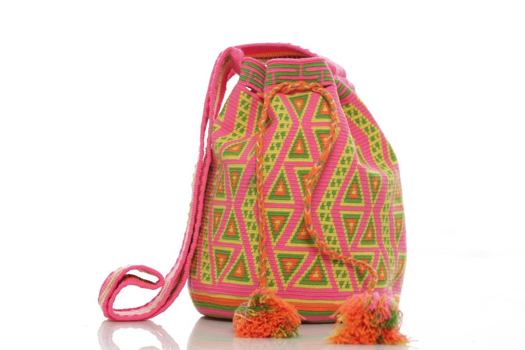 pink, yellow, green and orange mochila bag from brandnative