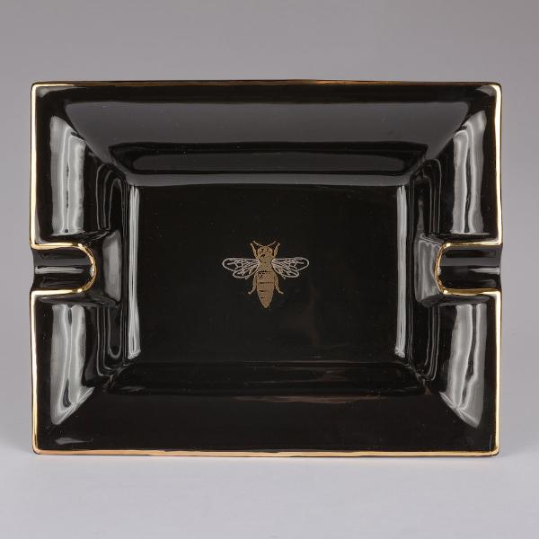 Black Bee Large Ashtray / Change Tray