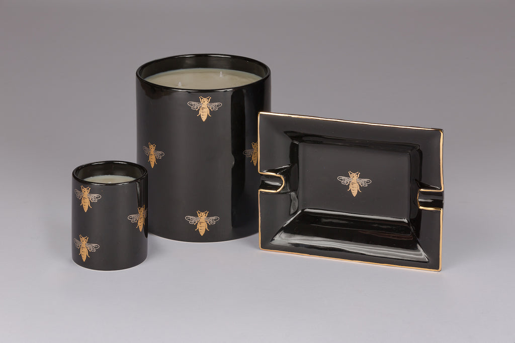 Black Bee Large Candle