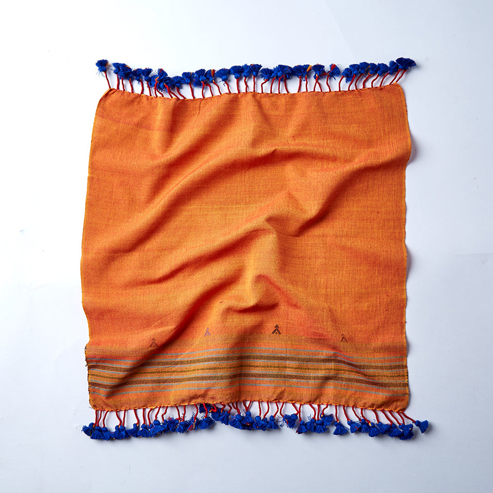orange cotton handwoven set of 4 napkins from cheskie