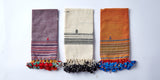cotton handwoven set of 4 napkins from cheskie