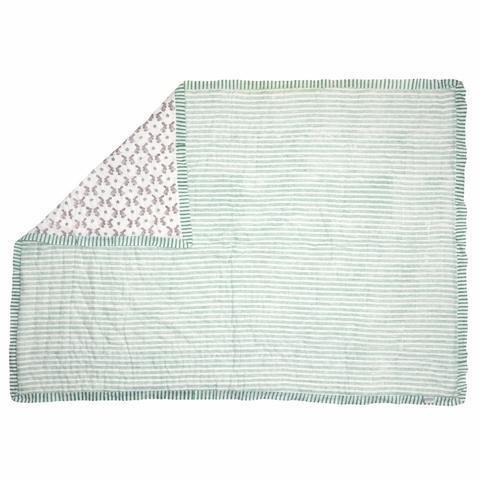 Bunny Cot Quilt - available in Pink or Aqua