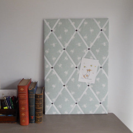 Blue Bumble Bee Fabric Noticeboard