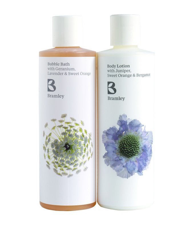 delphinium bubble bath and body moisturise from bramley