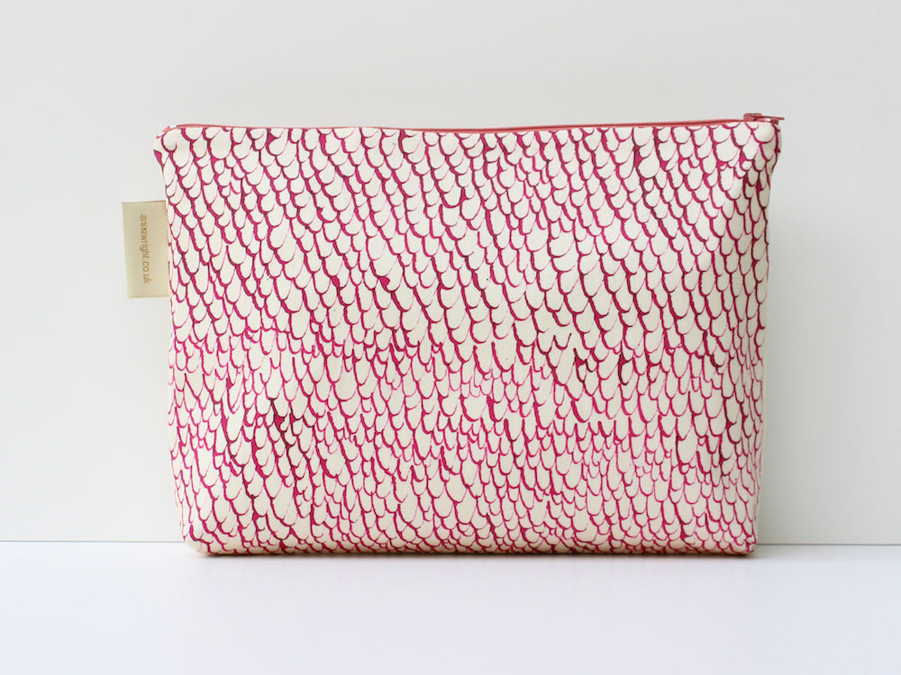 friday night flamingoes wash bag from anna wright illustration