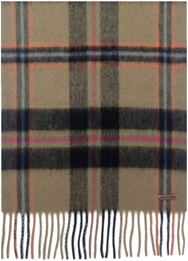 The Hexham Black Check Scarf