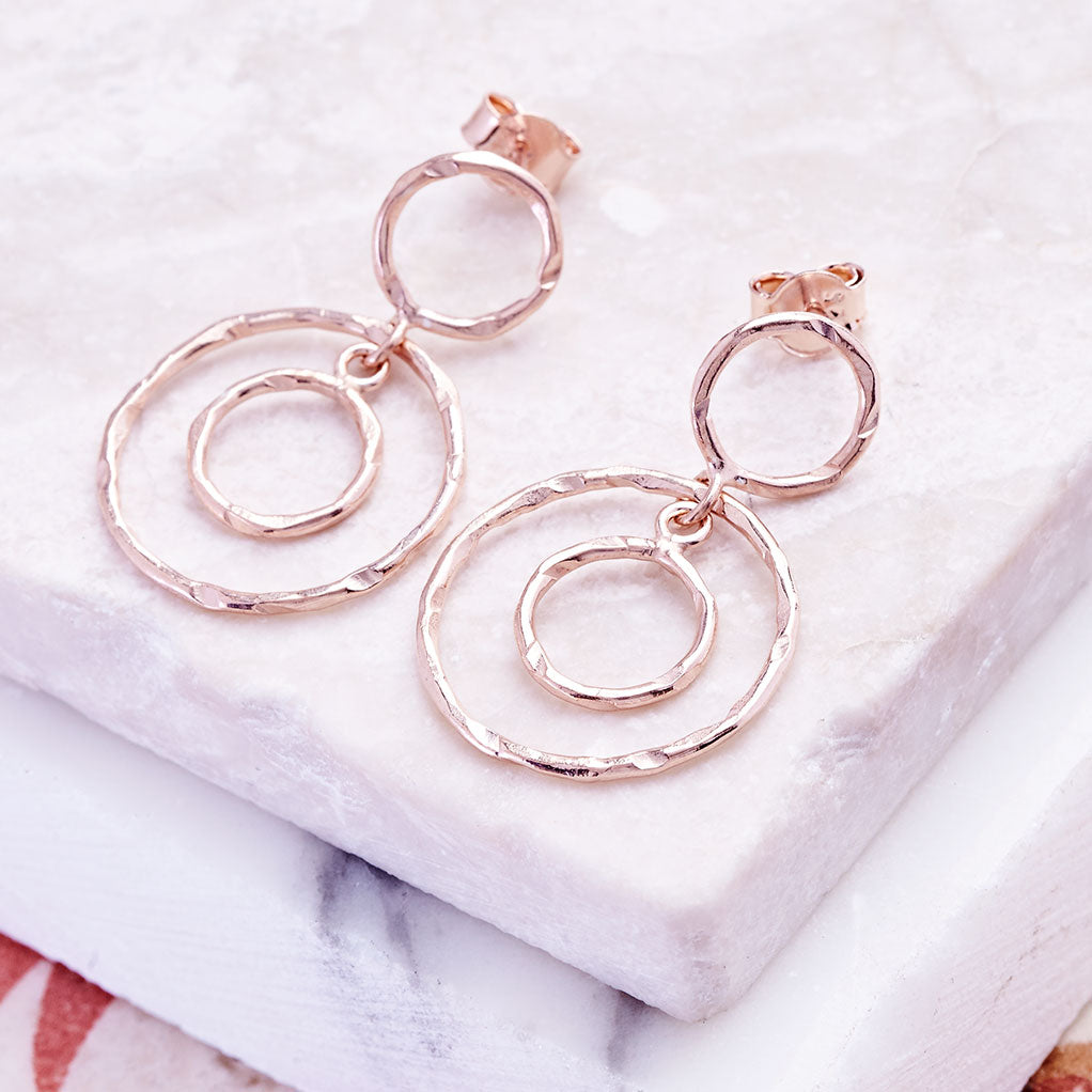 Jaisalmer Circle Earrings in Rose Gold