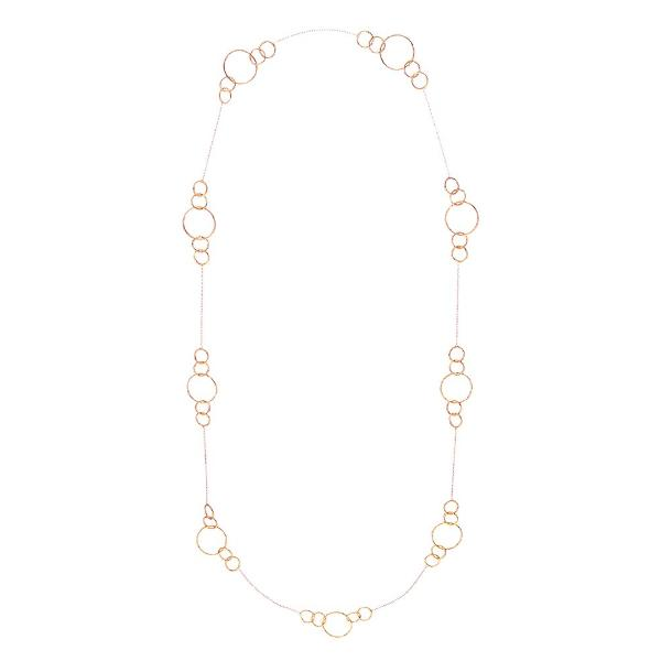 Circle Station Necklace in Rose Gold