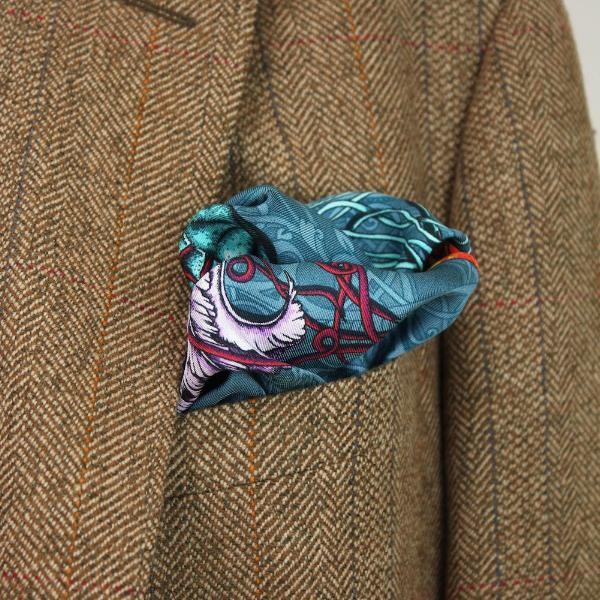 Dancing Jellyfish Pocket Square - Turquoise