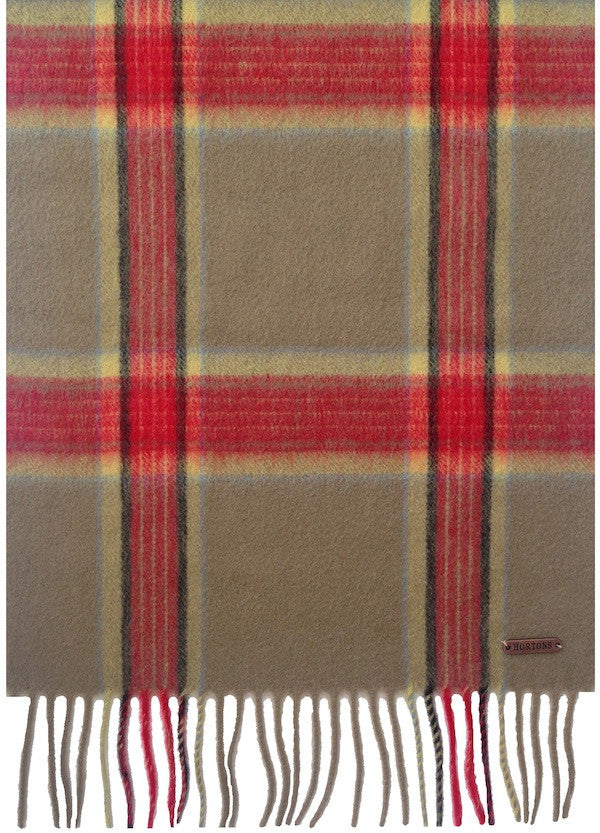 The Hexham Red Check Scarf