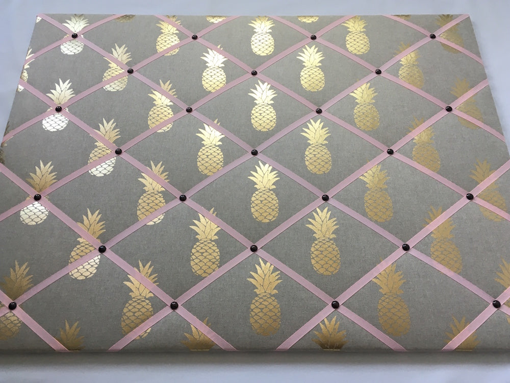 Gold Pineapple Fabric Noticeboard