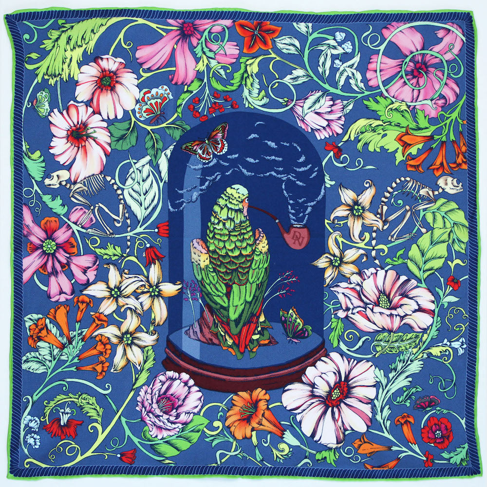 Wise Old Parrot Pocket Square