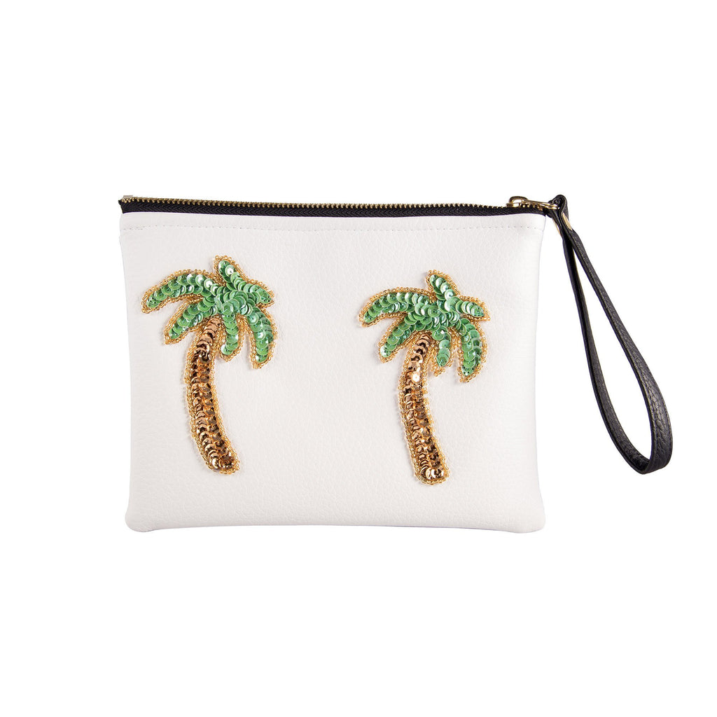 Tulum Cream Palmera Clutch