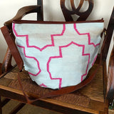 Blue and Pink Tote Bag