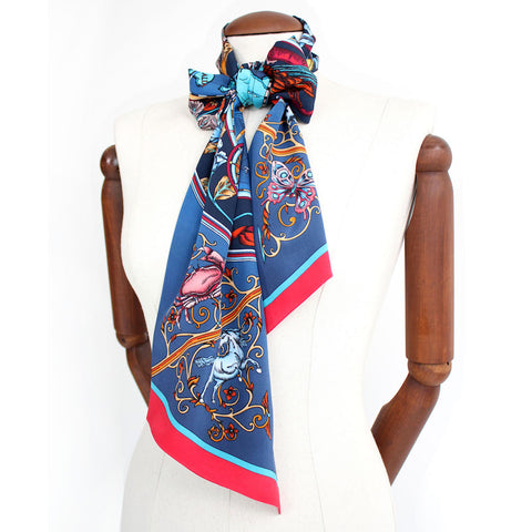 Dancing Jellyfish Scarf - Blue