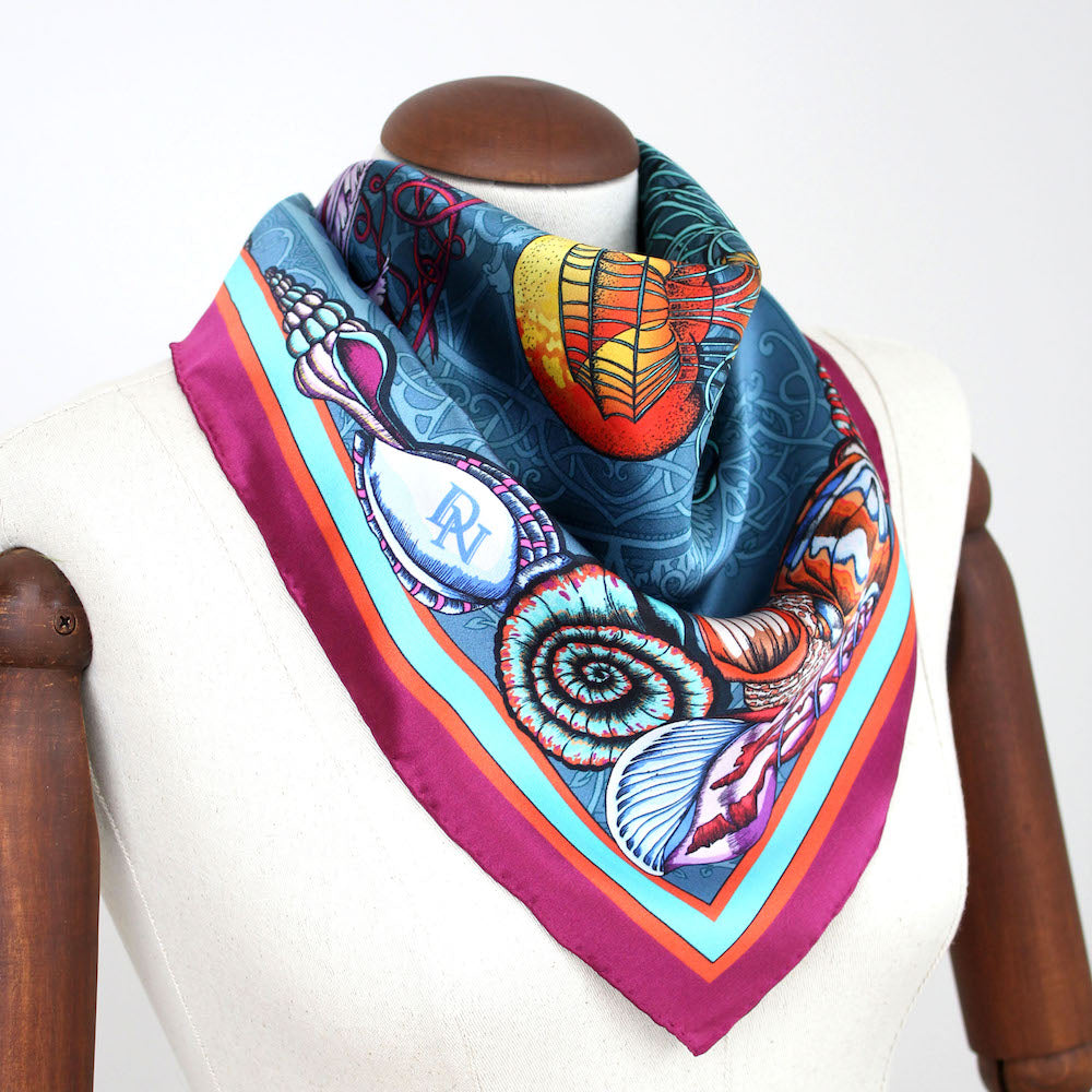 Dancing Jellyfish Scarf - Turquoise