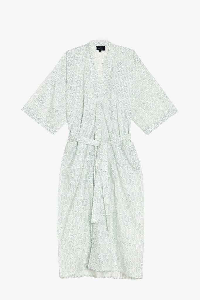 Mint Leaf Print Dressing Gown – Handpicked by Kate b2729a969