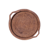 Brown Rattan Round Tray