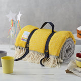 Grey & Yellow Picnic Blanket